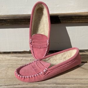 Land's End Leather House Slippers